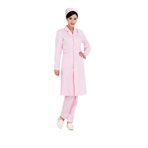 Tyvek White Lab Coat - Medical science lab coats for women physician chemistry jackets white blue pink green long