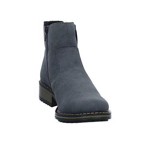 Rieker Azul Botines 14 para Altsilber Mujer Jeans Z6885 TqTrxwB