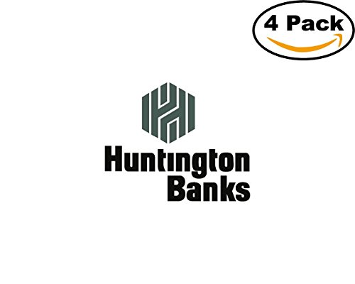 Huntington Banks 4 Stickers 4X4 Inches Car Bumper Window Sticker Decal