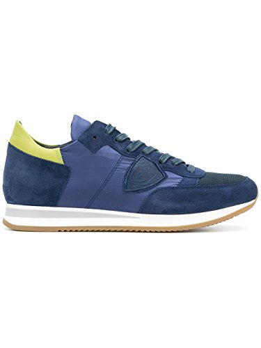 Philippe Model Mannen Sneaker Blauw Blu / Lime, Blauw - Blauw / Lime - Size: 40 Eu