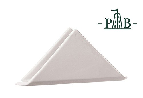 La Porcellana Convivo Ceramic Napkin Tissue Holder in White