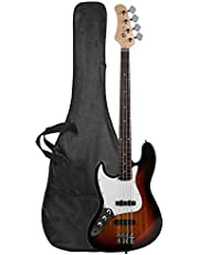 $136 » New Professional Left Handed Basswood Sunset GJazz Electric Bass Guitar Set