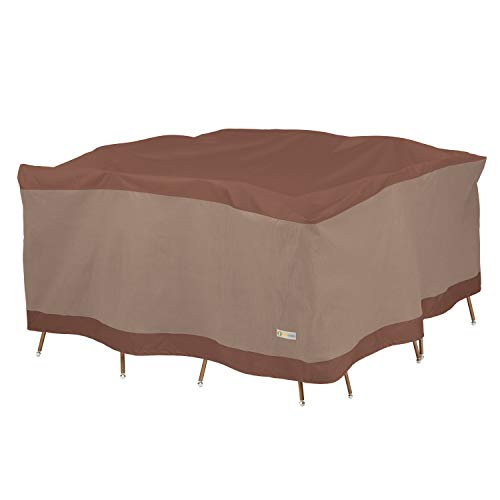 Duck Covers Ultimate Square Patio Table with Chairs Cover, -