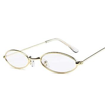 12c046acc4 Image Unavailable. Image not available for. Colour  Onizah - Vintage Oval  Sunglasses Women Men Retro Clear Lens Eyewear Sun Glasses For Female