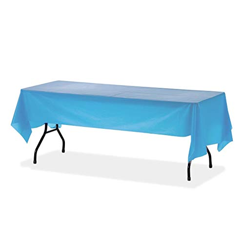 (Orangehome 12-Pack Plastic Table Cloth 54 x 108 IN Rectangle Table Cover Wedding Birthday Party Disposable Table Cloth (Sky Blue))