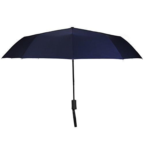 Travel Umbrella,Auto Open & Close, Travel 10 Ribs Folding Golf SizeUmbrella (blue) by Jemess (Image #7)