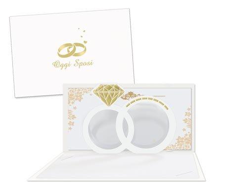 Biglietto Auguri Matrimonio Pop Up : Biglietto di auguri augurale di matrimonio pop up 3d completo di