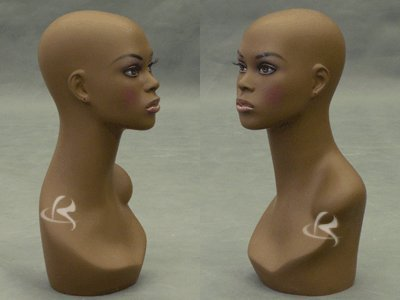 Roxy Display (MD-FB4) Realistic Female Mannequin Head, Brown color, African features