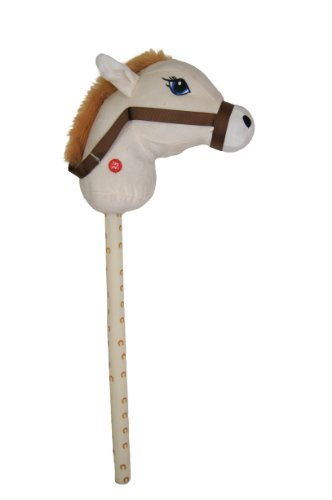 Kandy Toys 26 Inch Hobby Horse With Sound 4 Colours Available (hl63) (cream) by Kandy Toys (Image #1)