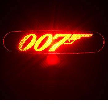 JAMES BOND 007 - 3rd Third Brake Light Vinyl Decal Mask Kit #1072 | Vinyl Color: Black