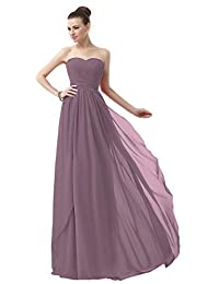 VaniaDress Sweetheart Chiffon Long Bridesmaid Dress Prom Gonws V003LF