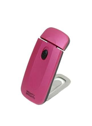 Mighty Bright 42316 - Mini flexo LED ultrafino con pinza para libro, color rosa
