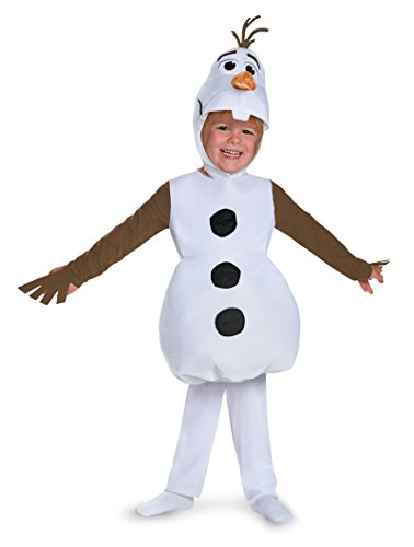 [83176 (4-6) Kids Olaf Costume Frozen Costume Disney Costume] (Olaf Boys Costumes)