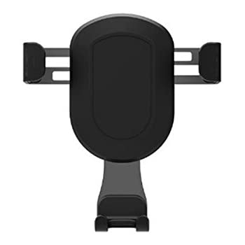 Fochutech Car Air Vent Cell Phone Holder Mount For Universal GPS Smartphones iPhone Mobile Claw One-Handed Performance TPU (Black, Not rotating)