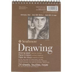 Bulk Buy: Strathmore (3-Pack) Medium Drawing Spiral Paper Pad 6in. x 8in. 24 Sheets 62400200 by Strathmore