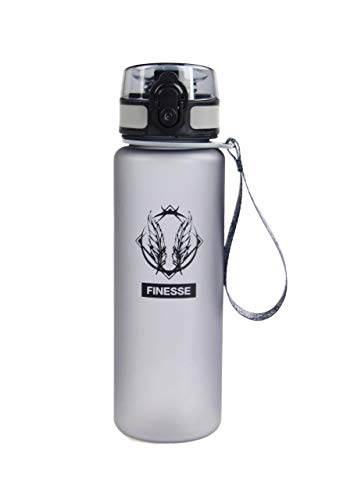 Finesse Fitness Premium Water Bottle - 20oz, BPA Free, Eco-Friendly, 1 Click Open, Fast Water Flow, Leak Proof for Sports, Gym Goers, Outdoors