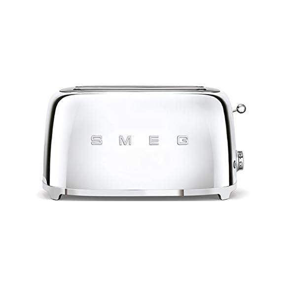 Smeg TSF02SSUK | 50's Retro Style 4 Slice Toaster in Chrome