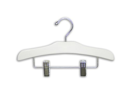 Only Hangers White Wooden Children's Clothes Hangers 12'' (Pack of 100) by Only Hangers