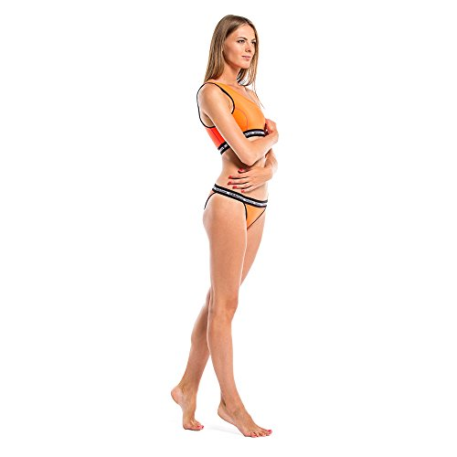 GlideSoul Signature Collection One Shoulder Parte de Arriba de Bikini, Mujer melocotón