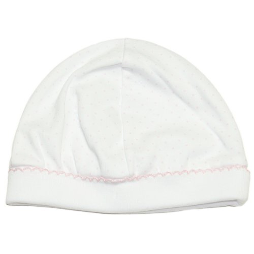 (Kissy Kissy Baby Dots Hat-White with Pink Dots-Small)