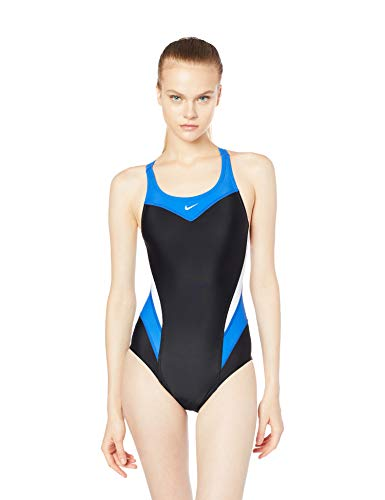 Maiô Victory Color Block Power One Piece  Nike Mulheres P Azul