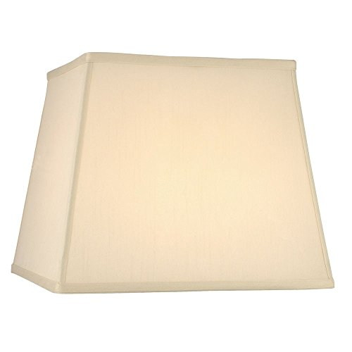 Cream Silk Square Lamp Shade with Spider Assembly ()
