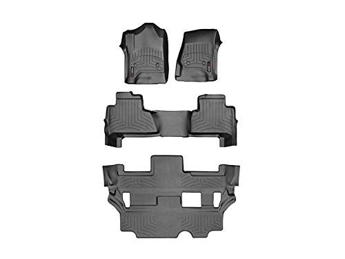 2015 Chevy Tahoe Black Complete Set (1st 2nd & 3rd Row) w/ 2nd row bench ()