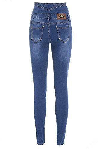 Jean Taille 16 Femmes Jeans Bleu 6 Vintage Taille Haute ZtqqwETHx