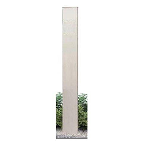 YKK ap ルシアス機能門柱B01型(独立仕様) 本体のみ 加工なしタイプ(H17) 『機能門柱 機能ポール』 プラチナステン B01GYLD7T4 10900 本体カラー:プラチナステン 本体カラー:プラチナステン
