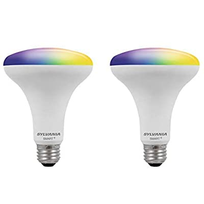 Sylvania Smart+ Bluetooth Full Color BR30 LED Bulb (2 Pack)