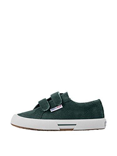 Superga 2950 Suvj Velcro - Zapatillas de tela Niños^Niñas Green Pine