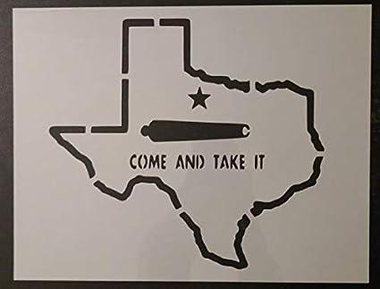 Amazon com: Custom Stencil State of Texas Come Take It Cannon 11 x 8 5