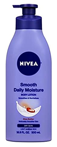 NIVEA Smooth Daily Moisture Body Lotion, Shea Butter 16.9 oz (Pack of 2) - Body Lotion Deep Moisture