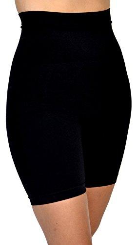 GCool Tech Patricia Lingerie Women's Anti-Bacterial Fabric Hi-Waist Shapewear Shorts (Black S)
