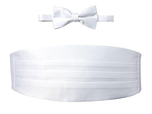 Spring Notion Men's Cummerbund and Bow Tie Set White