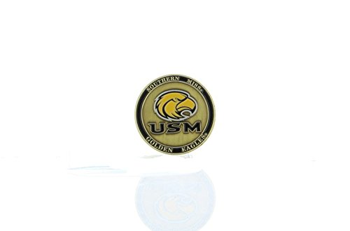 NEW! Southern Miss Golden Eagles Ball Marker, Golf, Brat Lucky Pocket Coin