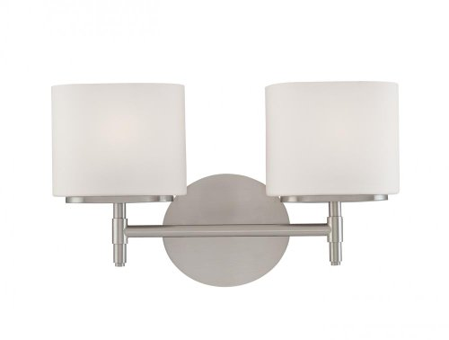 Hudson Valley Lighting Trinity 2-Light Vanity Light - Polished Chrome Finish with Opal Matte Glass Shade
