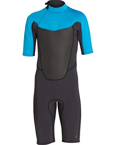 Billabong Boys' 2/2 Absolute Back Zip Short Sleeve Springsuit Turquoise ()