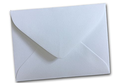 - Small Visiting #17 Mr. & Mrs. White Mini Gift Card Envelopes Pointed Flap (50 Pack)