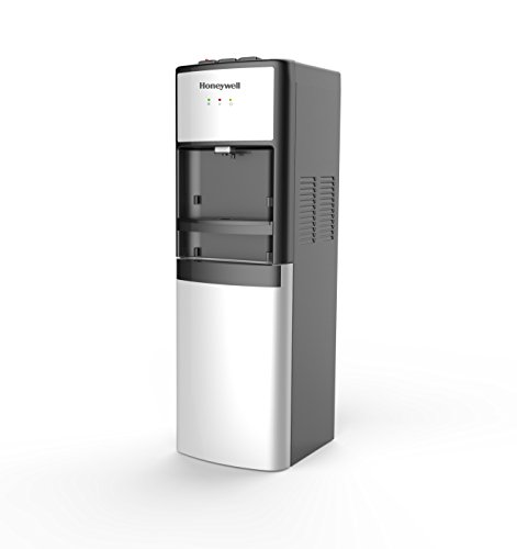 Honeywell HWB1083S 39-Inch Commercial Grade Freestanding Water Cooler Dispenser, Hot, Room and Cold Temperatures with 3 Tray Positions and Cabinet, Stainless Steel