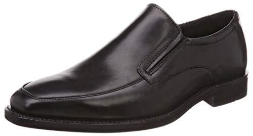 (ECCO Men's Calcan Apron Toe Slip On Oxford, Black, 42 M EU (8-8.5 US) )