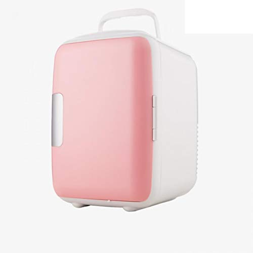 Mini Fridge Electric Cooler and Warmer (4 Liter/6 Can): AC/DC Portable Thermoelectric System w/Exclusive On the Go USB Power Bank Option (Pink)