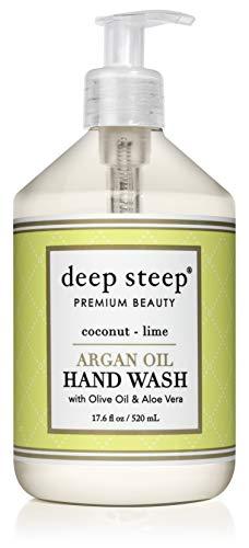 Hand Wash Coconut - Deep Steep Argan Oil Liquid Hand Wash, Coconut Lime, 17.6 Fluid Ounce
