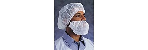 Ansell 67-230 White Large Polyethylene Beard Cover - 21 in Stretched Diameter - 076490-50548 [PRICE is per CASE]