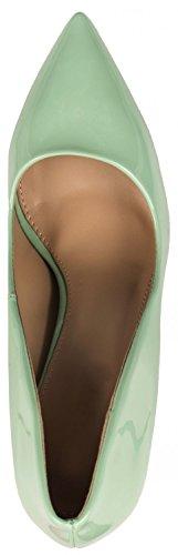 in con stiletto tacco scarpe comode tacco moderne punta con pump Gr a Elara vernice qxwC1PRn