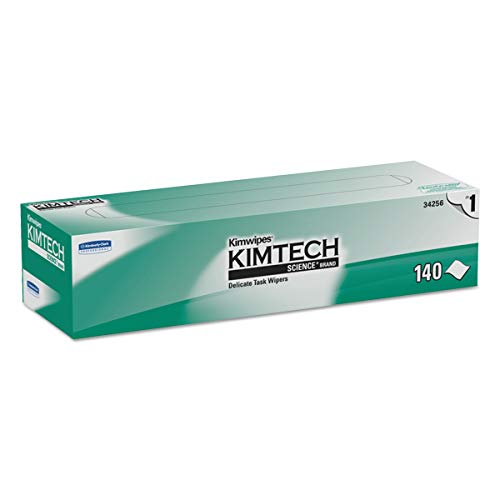 (Kimtech 34256CT Kimwipes Delicate Task Wipers, 1-Ply, 14 7/10 x 16 3/5, 140 per Box (Case of 15 Boxes))