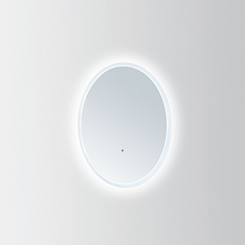 """Innoci-USA Apollo Oval LED Wall Mount Lighted Vanity Mirror Featuring IR Sensor and Energy Efficent LED Lights 24"""" x 36"""""""