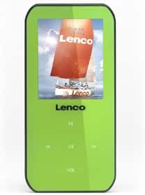 Lenco Xemio-655 Green   MP3 Player with 4GB Internal Memory, 3.7V 170 mAh Built in Li-ion Battery, USB Input, Micro SD Card Reader and Headphone (Earphone) Included