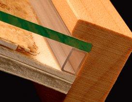 EconoSpace� Art and Glass Separator 1/8'' 100 Ft Bundle 20, 5 Ft Pieces - Black by FrameTek
