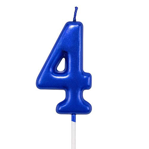number 4 birthday candle - 7